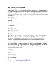 fine professional examples of letter of resignation social work    resignationletter e   write great   sample nurse