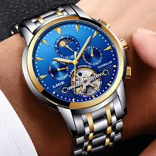 <b>LIGE</b> Mens Watches Top Brand <b>Luxury Automatic Mechanical</b> Watch ...
