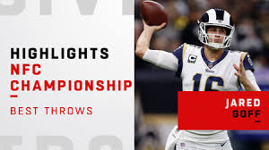 Jared Goff's best passes against the Saints | NFC Championship ...