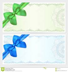 voucher gift certificate coupon template bow royalty stock gift certificate voucher coupon template bow royalty stock image