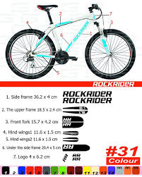 rockrider sticker <b>bike</b> frame autocollant <b>btwin</b> bicycle mountain ...
