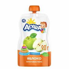 <b>Агуша Пюре фруктовое</b> Яблоко, с 4 месяцев (90г) купить в ...