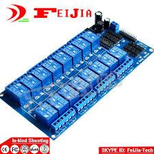 <b>3 PCS</b> New 12 V 16 Channel Módulo Relé para Ard uino PIC ARM ...