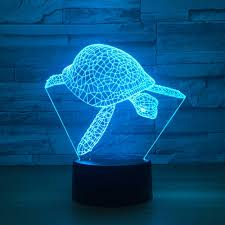 Sea Turtle <b>3d led Lamp</b> 7 Color <b>Table</b> Night <b>Lamps</b> For Kids Touch ...