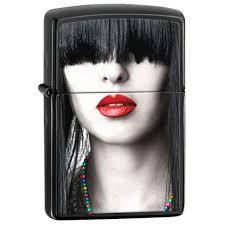 28536 zippo (США) | <b>Зажигалка Zippo</b> Classic <b>Red Lips</b> Ebony