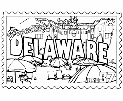 Small Picture USA Printables Delaware State Stamp US States Coloring Pages