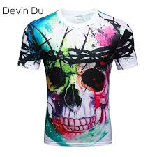 <b>Devin Du new Fashion</b> Brand T shirt Hip Hop 3d Print Skulls ...