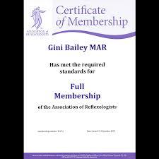 reflexology tunbridge wells giniclare reflexology treatments aor certificate of membership