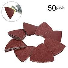 OxoxO <b>80mm</b> Triangular <b>Sanding</b> Pad Abrasive Sandpaper No Hole ...