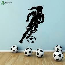 <b>YOYOYU Wall Decal</b> Soccer Player Wall Sticker Soccer Player Ball ...