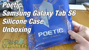 Poetic Samsung Galaxy <b>Tab</b> S6 <b>Silicone Case Cover</b> Unboxing ...