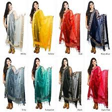 Dupatta Scarf Gota Patti <b>Organza</b> Chunni Stole Neck Wrap <b>Hijab</b> ...