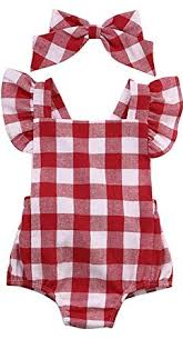 Oklady <b>Newborn Baby</b> Girl Clothes Bodysuit Romper Red and White ...