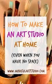 twelve easy ways to make an art studio in your home no matter how small artists studio lighting