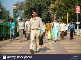 people walking to work in the morning in mumbai stock photo people walking to work in the morning in mumbai