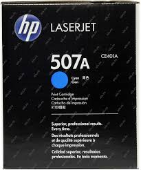 Оригинальный <b>картридж HP CE401A</b> (<b>№507A</b>) (голубой) Голубой ...