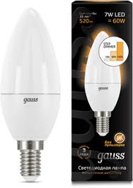 <b>Лампа Gauss LED Candle</b> E14 7W 3000К step dimmable 1/10/100 ...
