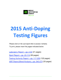anti doping testing figures world anti doping agency