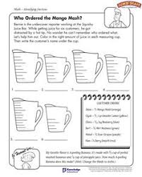 "Maths Worksheet -- Converting Mixed Fractions to Improper ...""Who Ordered the Mango Mash"" – 5th Grade Math Worksheet on Fractions #JumpStart"
