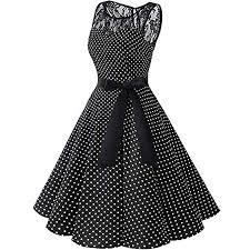 TOPSELD Short Sleeve <b>Women</b> Dresses,<b>Women Sleeveless Polka</b> ...