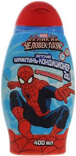 SpiderMan <b>Шампунь</b> с кондиционером 2в1 , детский, 400 мл ...
