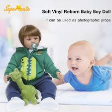 <b>Soft Vinyl Reborn</b> Baby Boy <b>Doll</b> Lifelike <b>Cute</b> Toys for Children Gift ...