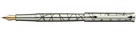 <b>Перьевая ручка</b> Pierre Cardin <b>Evolution</b> хром, гравировка рисунка ...