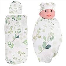 Swaddle Wrap Newborn <b>Receiving Blanket</b> with Hat Set <b>Baby</b> Wrap ...