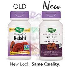 Nature's Way <b>Reishi</b> Standardized, <b>376 mg</b> per serving, 100-Count ...