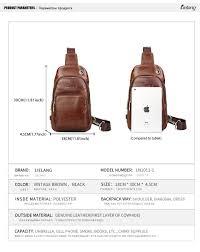 <b>LIELANG chest Bag</b> Genuine <b>Leather</b> Men <b>Shoulder Bag</b> Casual ...