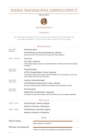 physiotherapist resume samples   visualcv resume samples databasephysiotherapist resume samples