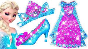 Play Doh Making Colorful Sparkle Disney <b>Princess Frozen Elsa</b> ...