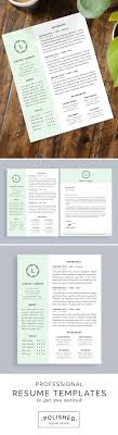 17 best ideas about creative resume templates professional resume templates for microsoft word features 1 and 2 page options plus a