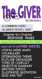 best images about the giver classroom activities the giver unit novel study common core aligned