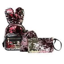 3Pcs Fashion <b>Student</b> Children Bling <b>Sequins</b> Zipper <b>Backpacks</b>+ ...