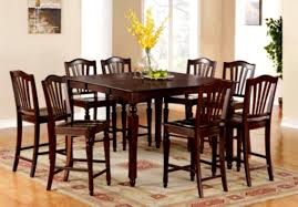 Tall Dining Room Table And Chairs Normal Dining Room With Pendant Lights And Wooden Dining Table Set