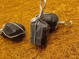 <b>10PCS lot</b> free shipping black Brazilian tourmaline stone pendant ...