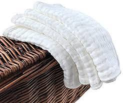 Muslin Burp Cloths 4 Pack Large 50cm by 25cm <b>100</b>% <b>Cotton 6</b> ...