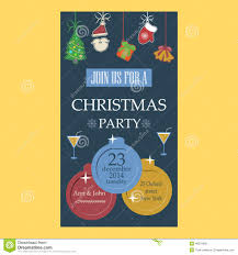 christmas party invitation stock vector image  christmas party invitation flat design stock photo