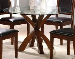 designs sedona table top base: dining room simple round glass top dining tables with wood base and