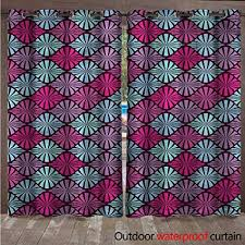 cobeDecor Geometric Home Patio Outdoor Curtain Tribal <b>African</b> ...