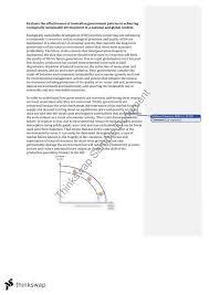 environmental sustainability essay   year  hsc   economics    environmental sustainability essay