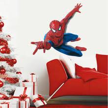 Большая <b>наклейка</b> на стену с Суперменом, человеком-пауком ...