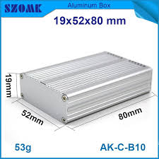 <b>1 piece</b> free shipping silver <b>aluminum</b> extruded housing for ...