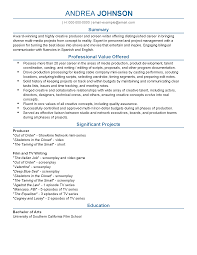 professional tv producer templates to showcase your talent resume templates tv producer