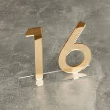 Rose <b>Gold Mirror Acrylic</b> Table Numbers, <b>Wedding</b> Table Numbers ...