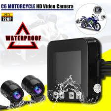 2.0 <b>C6 Car</b> Motorcycle <b>Dual</b> Lens DVR Camera Video Recorder ...