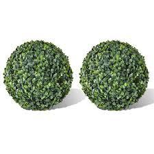<b>Boxwood Ball Artificial Leaf</b> Topiary Ball - 13.8 in. - 2 Piece | Walmart ...