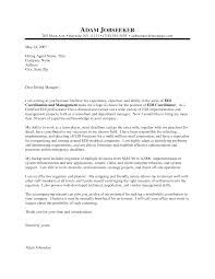 Cover Letter Ex  free samples of cover letters for employment