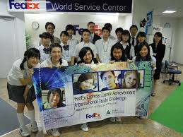 fedex and junior achievement held international trade challenge international trade challenge participants